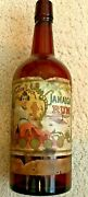 1900 London Dock Jamaica Rum Whiskey Bottle With Illustrated Color Label Oakland