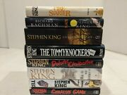 Stephen King Large Book Lot Of 8 Fire-starter Cell Bag Of Bones And More Free Ship