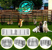 6/8pcs Pet Dog Portable Playpen Indoor/outdoor Enclosure Run Cage Kennel House