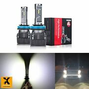 Alla Lighting S-hcr H8 H9 H11 Led Bulbs Replacement 10000lms Xtreme Super Brigh