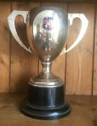 1959 Large Claymore Cup Vintage Silver Plate Trophy Trophies Loving Cup