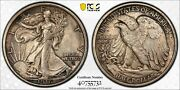 1916 D Walking Liberty Half Pcgs Ms64 Lustrous Silvery Golden Pewter And Charcoal