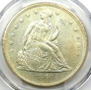 1860-o Seated Liberty Silver Dollar 1 - Certified Pcgs Ms60 Unc - 2250 Value