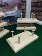6- Decoy Stands 1-1/2 Shaker Pegs