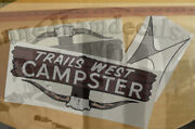 Trails West Campster Vintage Travel Trailer Reproduction Decal 60's-70's 3 Inset