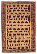 Vintage Hand-knotted Carpet 6and03911 X 10and0392 Traditional Oriental Wool Area Rug