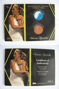 2012 Ace Authentics Victoria Azarenka Match Used Item Single/dual Pick From List