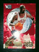 Michael Jordan 1996-97 Fleer Metal Maximum Metal 4 Ssp Insert Super Rare