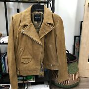Gorgeousss Madewell Suede Motorcycle Biker Jacket Mustard L New
