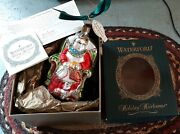 1st Issue Waterford Holiday Heirloom Mrs. Claus 118425 Glass Ornament Poland Nib