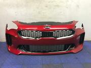 2018 - 2019 Kia Stinger Front Bumper Cover W/adaptive Cruise Paint Chips Scuffs