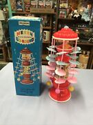 Musical Merry Go Round In Original Box Wind Up Works Made N Japan No.52880