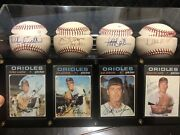 Orioles Four 20 Game Winners Signed/autographed Balls And Cards Jsa Certified
