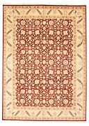 Vintage Hand-knotted Carpet 9'0 X 12'6 Traditional Oriental Wool Area Rug