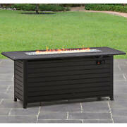 Quality Gas Fire Pit Outdoor Ambience Propane Patio Backyard Heater Table 57
