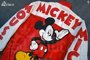 🔥90s Mickey Mouse Club Leather Cartoon Hip Hop Colorblock Bomber Jacket M/l 80s