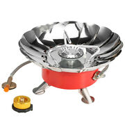 Lixada Windproof Piezo Ignition Gas Stove Outdoor Cooking Gas With M7a2