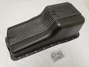 1962-1982 Small Block Ford Sbf 289 302 Black Aluminum Finned Front Sump Oil Pan
