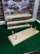 4- Large Base Decoy Stands 1-1/2 Shaker Pegs
