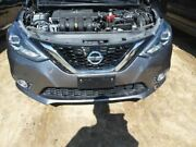 Front Bumper Removable Lower Grille With Fog Lamps Fits 16-18 Sentra 3807267
