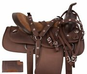 Horse Saddle Western Trail Gaited Synthetic Light Weight Tack 14 15 16