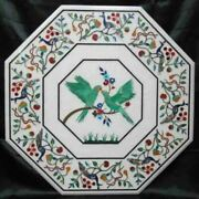 30 White Marble Table Top Coffee Center Home Decor Inlay Antique Malachite C44