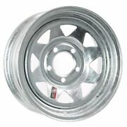 Trailer Rim Wheel 13 In. 13x4.5 5 Lug Hole Bolt Wheel Galvanized Spoke Design