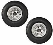 2-pack Trailer Tires On Galvanized Wheel Rims 18.5-8.5-8 215/60-8 Load C 5 Lug