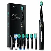5 Modes Atmoko Sonic Electric Toothbrush Rechargeable Brush Heads Usb Charger