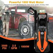 3800psi 3.0gpm Electric Power Washer With Reel 4 Nozzles Detergent Tank2000w