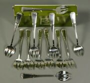 Antique French Cristofle Alfenide Silver Plated Oyster Forks Set Of 12 W/ Box