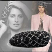 Beret Hat Black White Ladies Accessories Fashion Collection Unused New