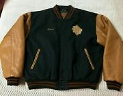 Brian White Back Stage Bear For Wear Golden Bear Leather Large Jacket Outer Wear