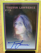 2021 Topps Trevor Lawrence Rookie Autograph Auto On Card Hard Signed /10 Jaguars