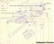 Rgs Rio Grande Southern Signed By Otto Mears Bill For Voucher And Form 615 1893