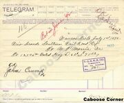 Rgs Rio Grande Southern Signed By Otto Mears Telegram And Voucher For Hay 1892