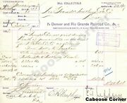 Rgs Signed By Otto Mears Bill For Voucher And Bill Collectible E.t. Jeffery 1892