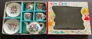 Vintage Childand039s Toy China Tea Set Made In Japan In Original Box Free Shipping