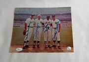 Mantle Dimaggio Mays Snider Signed Autographed 8x10 Picture Photo Jsa Certified