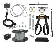 New Ziplinegear 400and039 Ultimate Torpedo Zip Line Kit With Trolley Stainless Steel