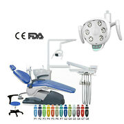 Dental Chair Patient Stool Unit Hard Leather Computer Controlled/ Led Light Lamp