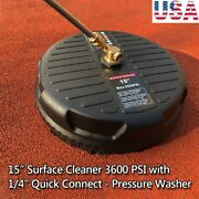 Pressure Washer 15 Surface Cleaner W/ 2 Extension Wandand Quick Connect 3600 Psi