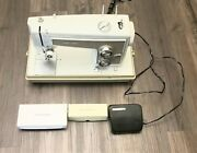 Vintage Sears Kenmore Sewing Machine Model 158.13201 With Attachments