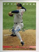 Upper Deck Authenticated Roger Clemens Autographed 8x10 Photo Card -nm/mt-