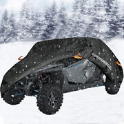 300d Waterproof Sxs Utility Vehicle Storage Cover Dust For Can-am Polaris Yamaha