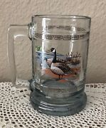 Canada Canadian Goose 12 Oz Heavy Duty Beer Glass Mug Stein With Gold Bands