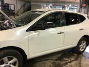 08 09 10 Rogue Driver Front Door W/o One-touch Automatic Up Feature White