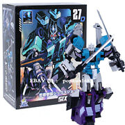 New Sixshot G1 Mft Mf-27d The Headmasters Blue Action Figure 5.5 Toys In Stock