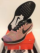 Nike Flyknit Racer Multi Rainbow Size 11.5 Ds 100 Authentic