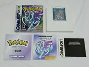 Pokemon Crystal Nintendo Gameboy Color Game Complete Authentic W/ New Battery